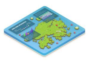 infographie-carte-isometrique-hong-kong